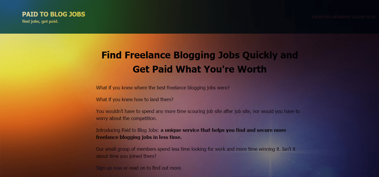 Get Paid to Blog Review