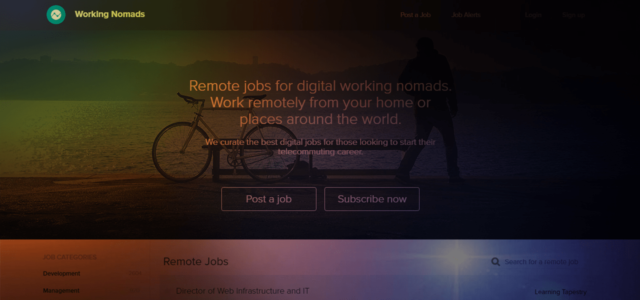 Remote Jobs - Working Nomads