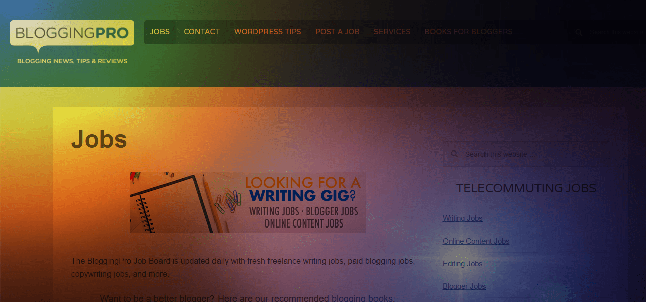 review of bloggingpro remote job site